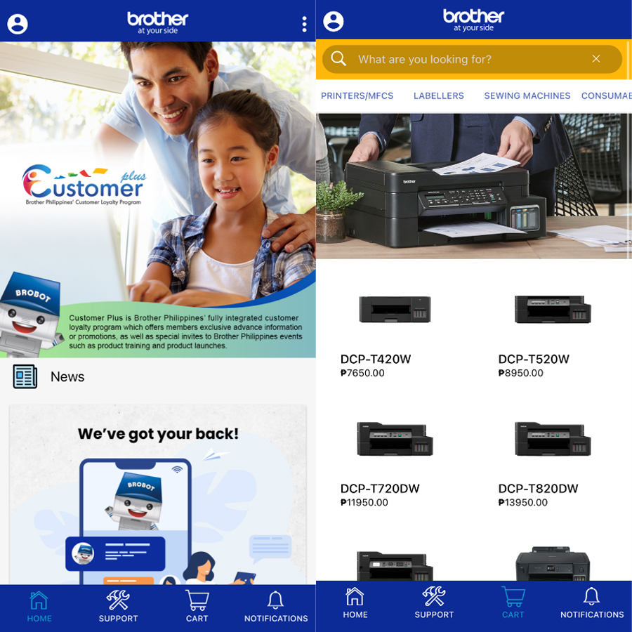 Brother Philippines introduces new iShop feature on Customer Plus App