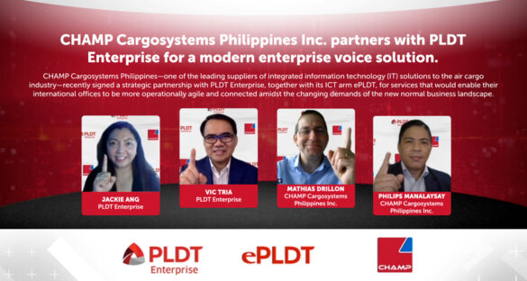 CHAMP Cargosystems PH signs with PLDT Enterprise for ePLDT Calling activation