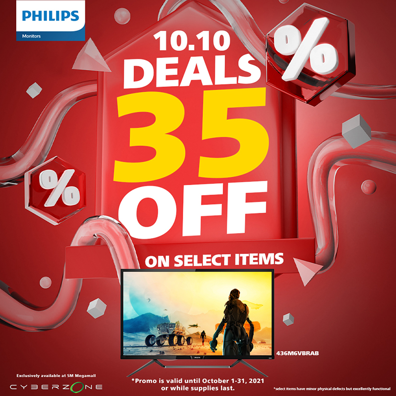 Unlike the usual tech deals in the Cyber Month 2021 Gadget Sale at SM Megamall, Philips Monitors, in collaboration with PCWORX, are holding a rather unique promotion for this event. From October 1 to 31, the leading display brand is offering huge discounts for select monitors with slight physical defects, such as bright and dead pixels.