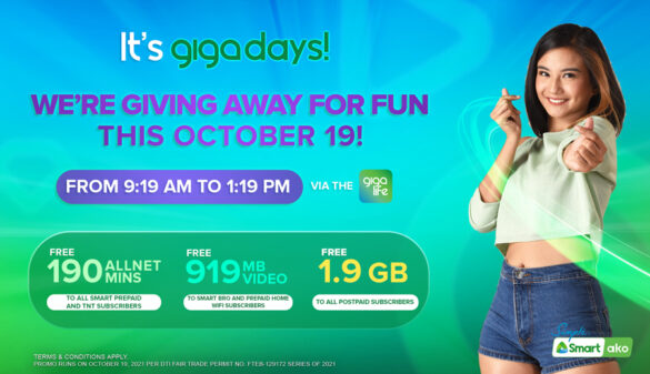Smart levels up GigaDays with more rewards from Oct. 19 to 22