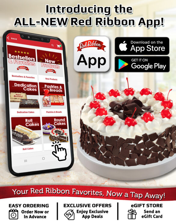 The NEW Red Ribbon App: Tap for your Red Ribbon favorites!